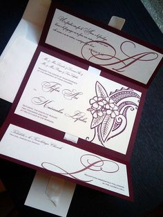BEAUTIFUL POLYNESIAN WEDDING INVITATIONS MADE BY GEKD BOUTIQUE IN SAN FRANCISCO, CA. ***PLEASE NOTE, I HAVE TRIED TO CONTACT THE OWNER, BUT CANNOT FIND HER WEBSITE, SORRY!***