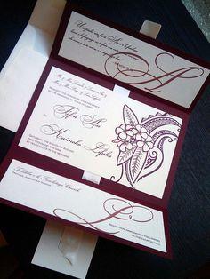 BEAUTIFUL POLYNESIAN WEDDING INVITATIONS