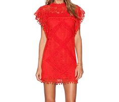 Red lace dress Cool Cute Comfortable