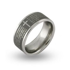 Lords Prayer Engravable Message Ring $29