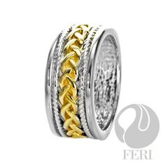 - .925 fine sterling silver - 0.1 micron natural rhodium  Set with:  - AAA white cubic zirconia - 18 karat gold plated  Invest with confidence in FERI Designer Lines https://www.globalwealthtrade.com/vdm/display_item.php?referral=jgala&category=12&item=2955&cntylng=&page=7
