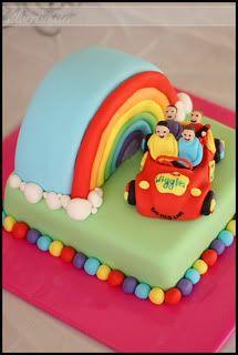 Rainbow Wiggles Cake
