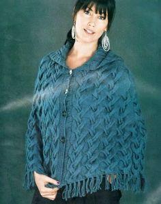 Вязание пончо спицами