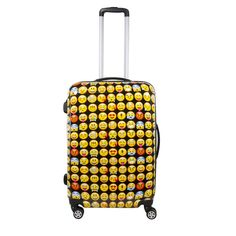 Concept Emoji colored 20-inch Carry-on Hardside Spinner Upright Suitcase