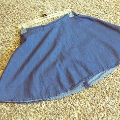 Jean skirt very cute and hipster Forever 22 jean skirt , very cute and comfortable ! Forever 21 Skirts Mini