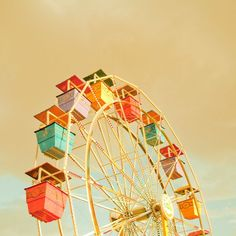 Ferris Wheel III 20x20 Fine Art Photograph door ZilaLongenecker