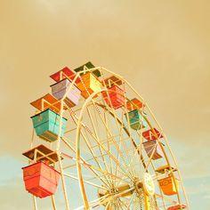 Ferris Wheel III 20x20 Fine Art Photograph door ZilaLongenecker