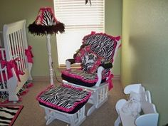 One of my best girl friends is a big zebra lover. When I say big, what I really mean is HUGE - huge as in almost every room in her house is decorated with zebra Zebra Nursery, Baby Zebra, Baby Nursery Decor, Baby Decor, Girl Nursery, Nursery Ideas, Bedroom Ideas, Dream Baby, Little Girl Rooms