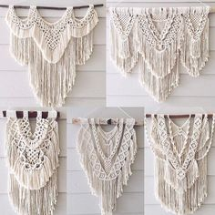 I haven't done any of the layering yet, but that's the next thing I want. Hand Made , I haven't done any of the layering yet, but that's the next thing I want. I haven't done any of the layering yet, but that's the nex. Macrame Design, Macrame Art, Macrame Projects, Macrame Wall Hanging Patterns, Macrame Patterns, Macrame Tutorial, Creations, Weaving, Crochet