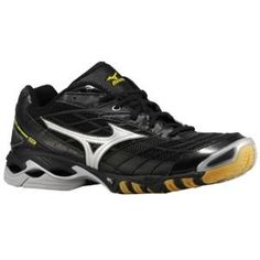 Mizuno Women's Wave Lightning RX2 Volleyball Shoes (Black/Silver, 6.5) « Clothing Impulse