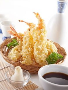 Shrimp Tempura Recipe  Ingredients  3 quarts vegetable oil 1 1/2 lbs colossal shrimp peeled, deveined, tails left on. 1 1/2 cups flour 1/2 c...