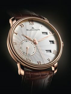 Blancpain | Villeret Annual Calendar with GMT | Red Gold | Watch database watchtime.com
