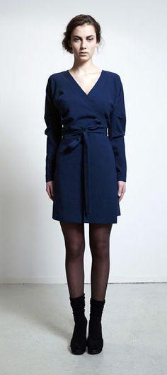 Rianne de Witte -- via MHOOM __ all wool wrap dress