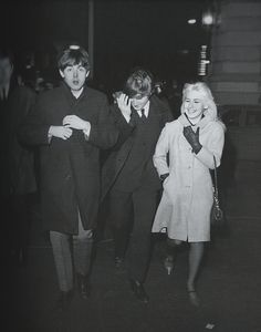 """thebeatlesphotovault: """"After resting, the Beatles travel to the Playboy club in NYC for a night out. February 7,1964 """""""