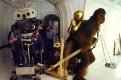 Chewie and Threepio on Empire Strikes Back. Peter pulling a sled with Anthony on it… so that's how they did it