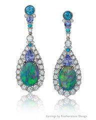 Opal Tanzanite Paraiba #earrings www.finditforweddings