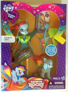 My Little Pony Equestria Girls Rainbow Rocks Rainbow Dash Fashion Doll & Pony Set #Hasbro