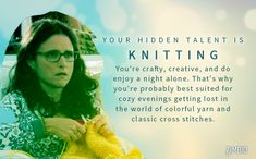My hidden talent is Knitting! What's yours? #ZimbioQuiznull - Quiz