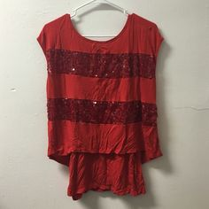 Sequin top. ❤️ A cute top with a tank connected, in great condition! Tops