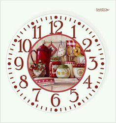 Shabby Chic Cafe, Clock Printable, Handmade Clocks, Decoupage Tutorial, Clock Faces, Acrylic Art, Snow Globes, Wall Decor, Printables