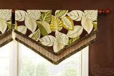 This simple fold-over valance packs a punch with this fabric combo!