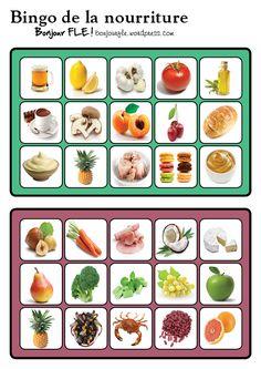 bingo de la nourriture french class and activities