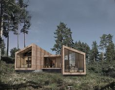 Scandinavian Architecture, Timber Architecture, Sustainable Architecture, Villa Design, House Design, Scandinavia House, Modern Barn House, Casas Containers, Brick Facade