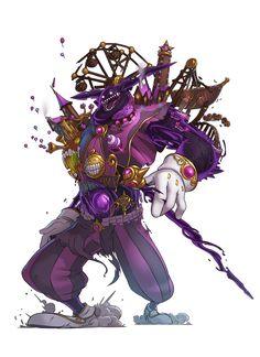 ArtStation - KARAVAN, Florent (MoonYeah) Mounier Fantasy Character Design, Character Design Inspiration, Character Concept, Character Art, Monster Concept Art, Fantasy Monster, Monster Art, Fantasy Characters, Anime Characters