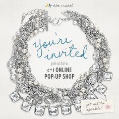 You're invited to join us for a c+i Online Pop-up Shop! Link up on March 25!!! http://www.chloeandisabel.com/boutique/carlyheard/201b60