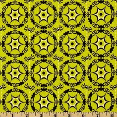 44'' Wide Costume Clubhouse Cobweb Green Fabric By The Yard by Riley Blake Designs