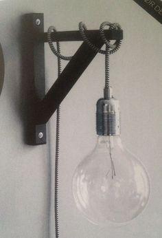 DIY wandlamp