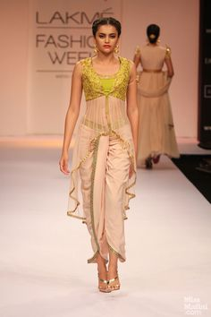 Dhoti pants and a high low choli by Shilpa Reddy. Loving it!