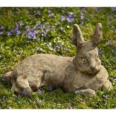 cast stone rabbit