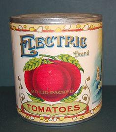 vintage tomatoe tin.