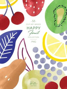 Watercolor fruits clip art, fruit illustrations by Belle Clipart food Watercolor fruits clip art, fr Abstract Illustration, Fruit Illustration, Simple Illustration, Botanical Illustration, Clipart, Poster S, Typography Poster, Happy Fruit, Vegetable Illustration