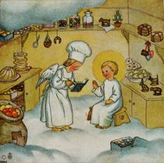 vintage christmas gift card or mini print by daisychainvintage, $8.00