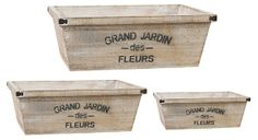 One Kings Lane - Continental Accents - Grand Jardin Planters, Asst. of 3