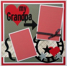 12x12 premade scrapbook pages,Grandpa premade scrapbook layout,Fathers Day scrapbook layout, Grandfather scrapbook layout, Ohioscrapper by ohioscrapper on Etsy https://www.etsy.com/listing/234277321/12x12-premade-scrapbook-pagesgrandpa