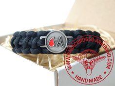 ARMBAND BLUTGRUPPE A RH - /  BRACELET BLOOD TYPE A RH - Belt, Bracelets, Blood, Accessories, Wristlets, Belts, Bracelet, Arm Bracelets, Bangle