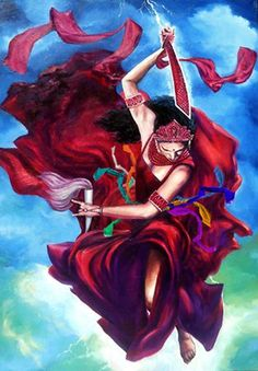 Yansa Oya Goddess of Wind and Time by Wendell Wiggins Oya Orisha, Shango Orisha, Oya Goddess, Goddess Art, Orishas Yoruba, Yoruba Religion, Sacred Feminine, Gods And Goddesses, Black Art
