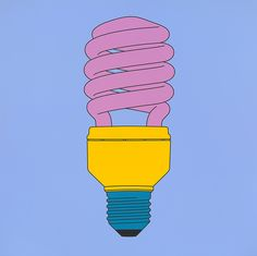 Untitled (bulb) by Michael Craig-Martin 2014 James Rosenquist, Michael Craig, Still Life Artists, Jasper Johns, Ligne Claire, Claes Oldenburg, Hirst, Arte Pop, Everyday Objects