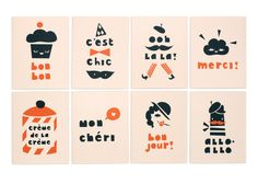 Our Paris! cards are based on simple illustrations, celebrating the wonderful French language and cliché sayings with humorous designs.