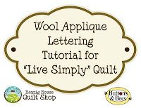 awesome tutorial on applique of wool lettering