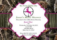 ITS A GIRL Camo Baby Shower Invitation Etsy listing at httpswww
