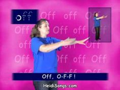 """▶ Second Grade Sight Word song - Off - YouTube  For SECOND grade. Activity: draw the letters in the air and do the movements in the video. Lead Topics: how to spell """"off"""" and definition of """"off"""""""