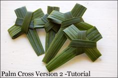 Palm Sunday is tomorrow. Don't forget to get some palm fronds and make a cross.