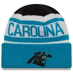 Men s Carolina Panthers New Era Black Blue Biggest Fan 2.0 Cuffed Knit Hat 26631019d