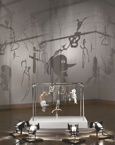 "Christian Boltanski (b. 1944) ""Théâtre d'ombres"" (Theatre of Shadows) 16 figurines (metal, cardboard, wire, electrical tape, nails, pins, wood and leaves)"