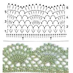 For instructions, click here: http://ergahandmade.blogspot.gr/2015/06/crochet-stitches.html Via: http://kru4ok.ru/top-kry...