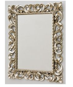 This is absolutely stunning mirror! Barocca Mirrors will always add style and glamour to your bathrroms. It comes in gold and peltre. Mirror Inspiration, Musical Jewelry Box, Beautiful Mirrors, Wallpaper Decor, Rustic Jewelry, Cabinet Decor, Jewelry Armoire, Or Antique, Frames On Wall